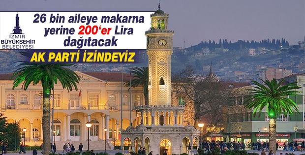 İzmir'de 26 bin aileye 200'er lira yardım