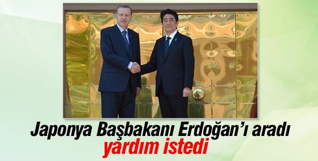 Japonya Başbakanı Erdoğan'dan yardım istedi