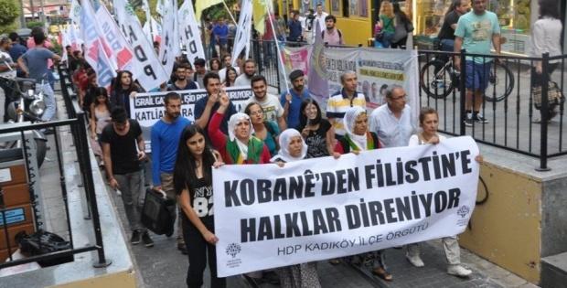 Kadıköy'de Işid Protestosu