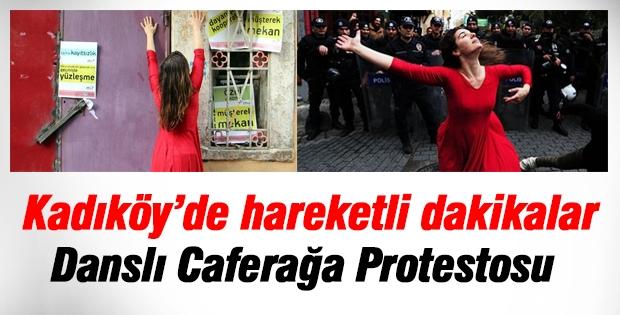 Kadıköy'de 'Kırmızılı Kadın'dan danslı protesto