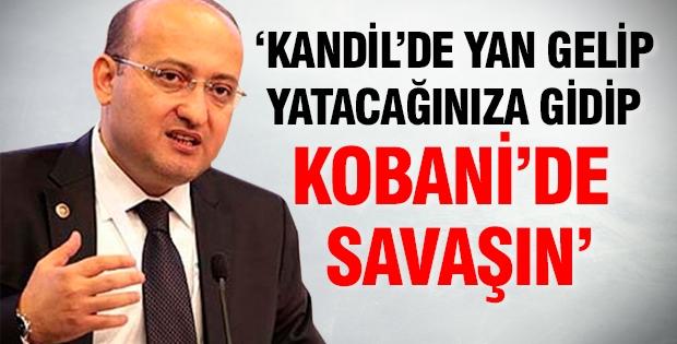 Kandil'de yan gelip yatacağınıza gidip Kobani'de savaşın