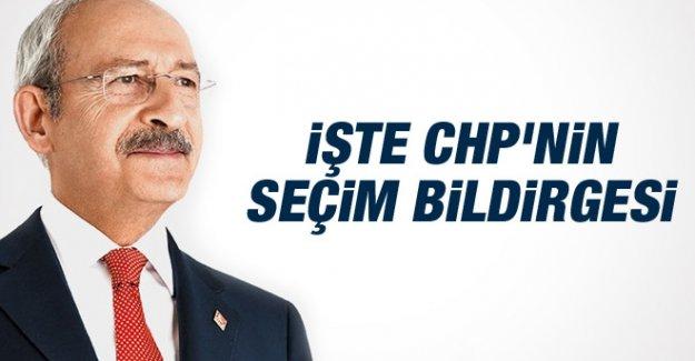 Kemal Kılıçdaroğlu, CHP'nin Seçim Bildirgesini Açıkladı