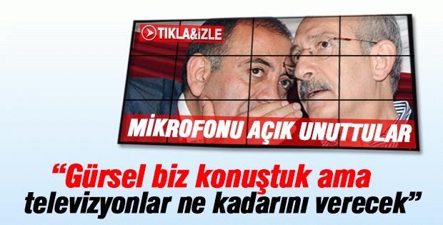 Kemal Kılıçdaroğlu ve Gürsel Tekin mikrofonlarını açık unuttular!