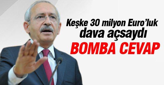 Kılıçdaroğlu: Keşke 30 milyon Euro'luk dava açsaydı