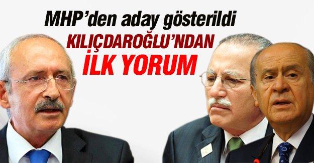 Kılıçdaroğlu'ndan İhsanoğlu'nun MHP adaylığına ilk yorum