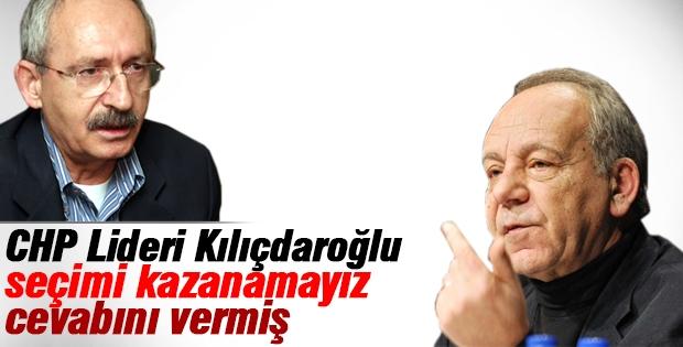 Kılıçdaroğlu seçimi kazanamayız demiş!