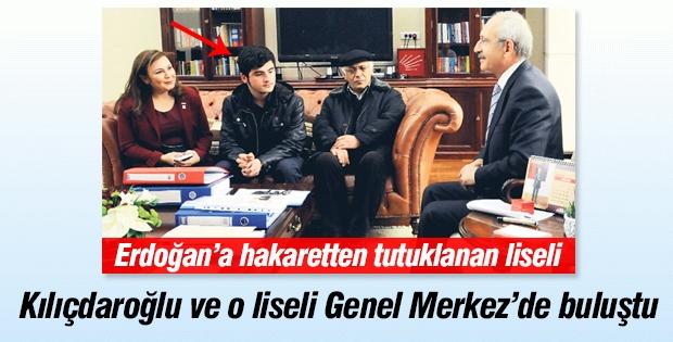 Kılıçdaroğlu,Erdoğan'a hakaretten tutuklanan liseliyle buluştu