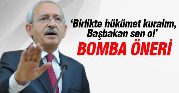 Kılıçdaroğlu'ndan 'Başbakan sen ol' önerisi