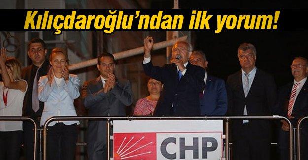 Kılıçdaroğlu'ndan ilk yorum!