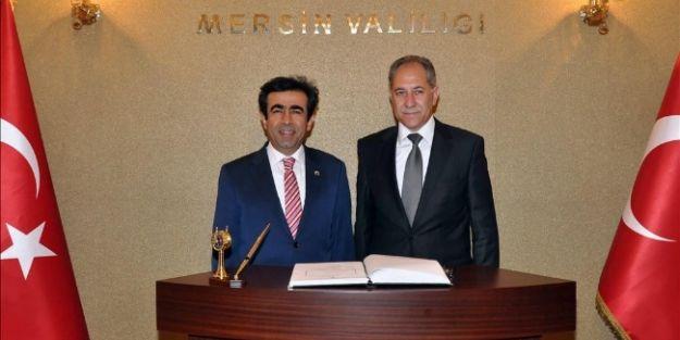 Kktc Milli Eğitim Bakanı Atasayan Vali Güzeloğlu'nu Ziyaret Etti