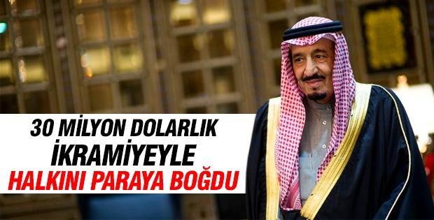 Kral Selman'dan halka 30 milyar dolarlık ikramiye