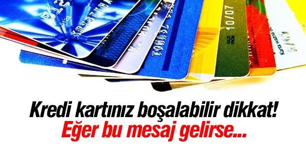 Kredi kartı kullananlar aman dikkat!