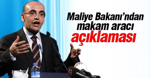 Maliye Bakanı'ndan makam aracı açıklaması