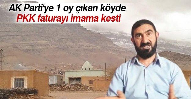 AK Parti'ye 1 oy çıkan köyde PKK tehdidi