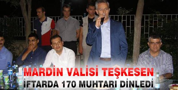Mardin Valisi Teşkesen, İftarda 170 Muhtarı Dinledi