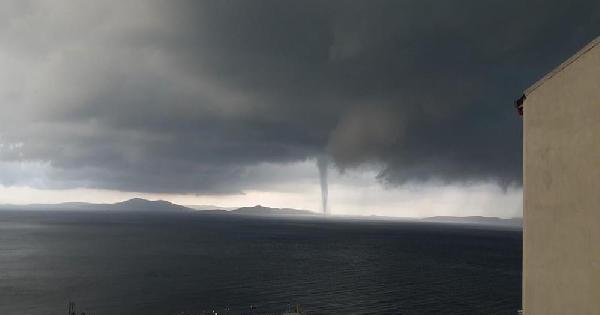 Marmara Adası'nda Hortum Dehşeti