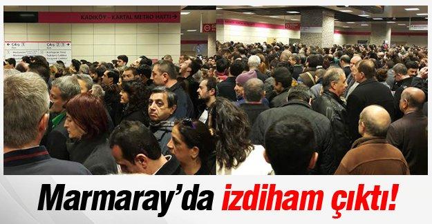 Marmaray'da izdiham çıktı vatandaşlar isyan etti!