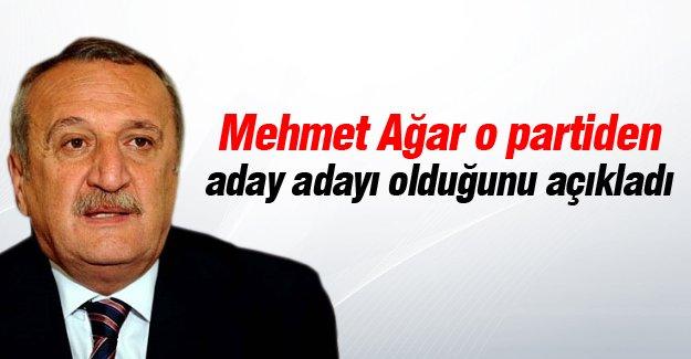 Mehmet Ağar o partiden aday adayı