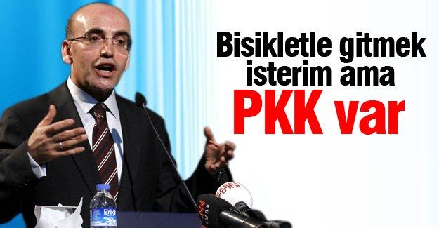 Mehmet Şimşek: Bisikletle gitmek isterim ama PKK var