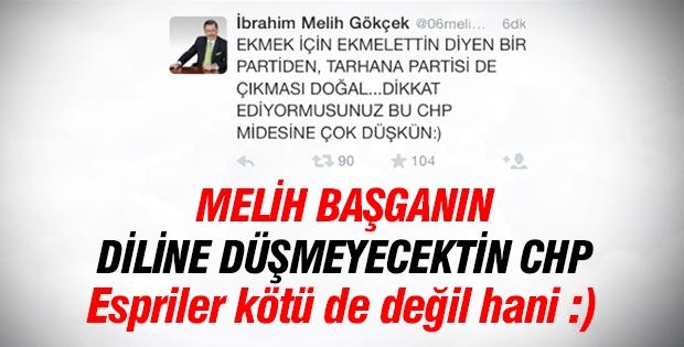 Melih Gökçek, Emine Ülker Tarhan'ın CHP'den istifasını  kendine has üslubuyla yorumladı.