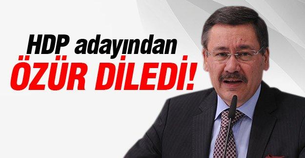 Melih Gökçek HDP adayından özür diledi!