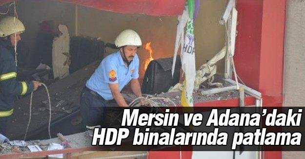 Mersin ve Adana'daki HDP binalarında patlama