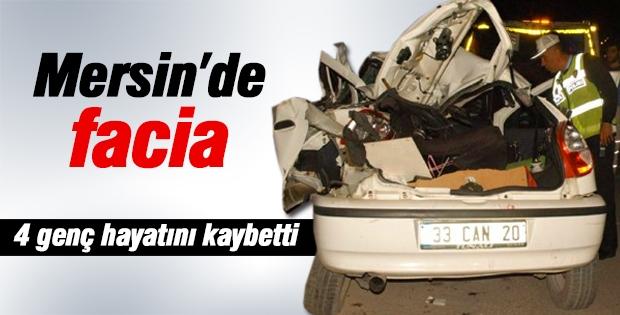 Mersin'de Viraj Faciası : 4 Ölü, 2 Yaralı