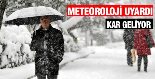 Meteoroloji Uyardı: KAR GELİYOR