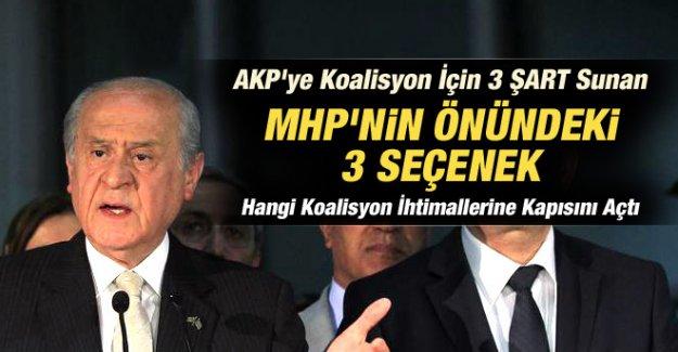 MHP'den koalisyon için 3 Seçenek ve 3 şart
