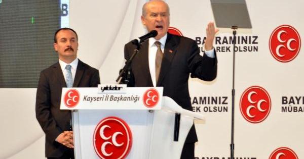 Mhp Lideri Bahçeli, Kayseri'de
