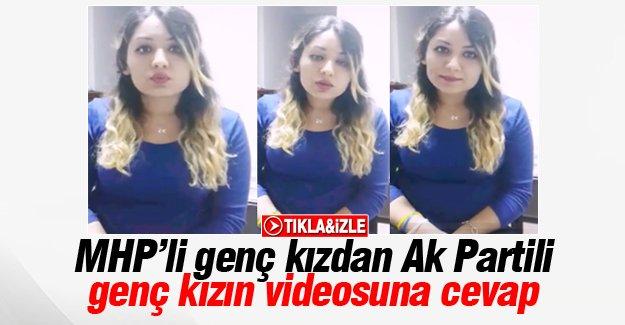 MHP'li genç kızdan Ak Partili genç kızın videosuna cevap