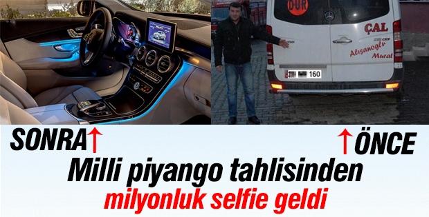 Milli piyango tahlisinden milyonluk selfie geldi