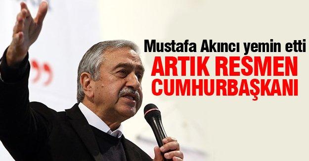 Mustafa Akıncı KKTC Cumhuriyet Meclisi'nde yemin etti