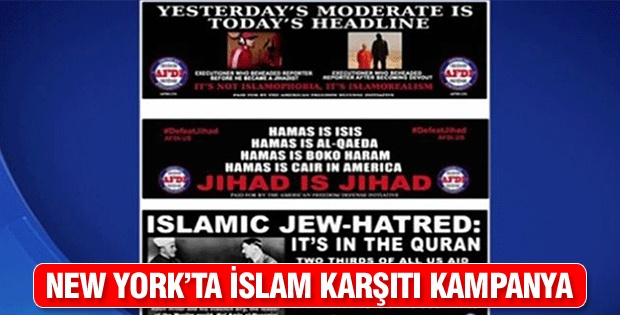 New York'ta İslam karşıtı kampanya