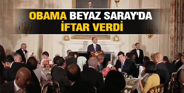 OBAMA BEYAZ SARAY'DA İFTAR VERDİ