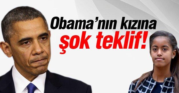 Obama'nın kızına şok teklif!