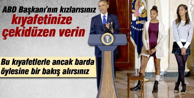 Obama'nın kızlarına kıyafet eleştirisi