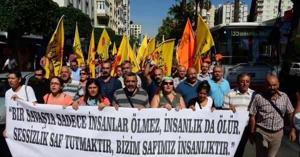 Öğretmenlerden Kobani'ye Destek, Işid'e Tepki Yürüyüşü