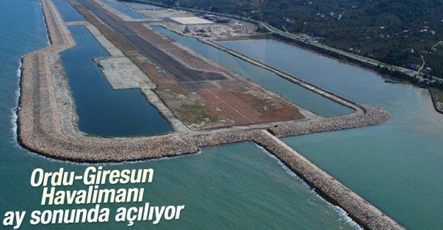 Ordu-Giresun Havalimanı ay sonunda açılıyor