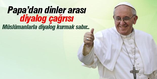 Papa'dan dinler arası diyalog çağrısı