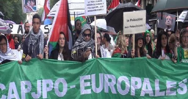 Paris'te İsrail Protestosuna Polis Müdahalesi