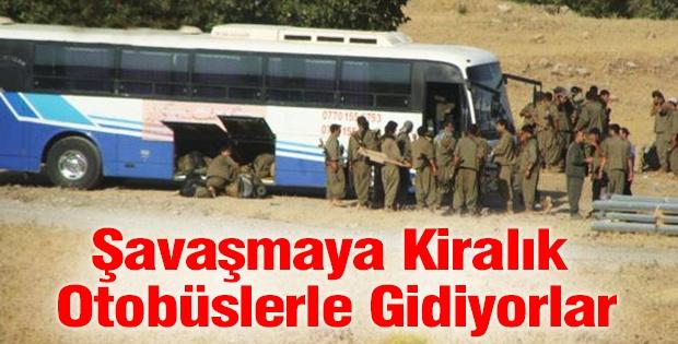 PKK IŞİD'le savaşmaya kiralık otobüslerle gidiyor