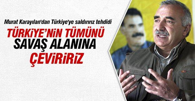 PKK'lı Karayılan'dan Türkiye'ye saldırırız tehdidi