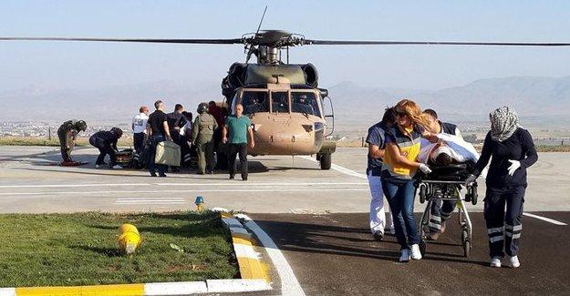 PKK'lılar helikopterdeki sağlık ekibini taradı