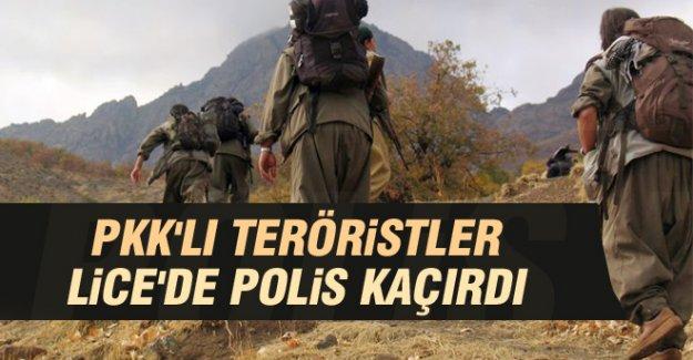 PKK'lılar, Lice'de Polis Kaçırdı
