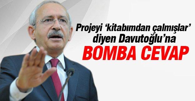 Projeyi 'kitabımdan çalmışlar'  diyen Davutoğlu'na bomba cevap!