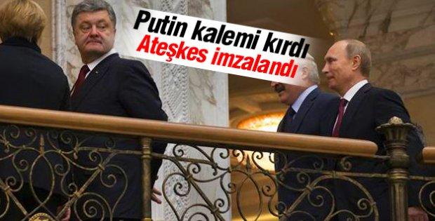 Putin: Ukrayna'da ateşkes ilan edilecek