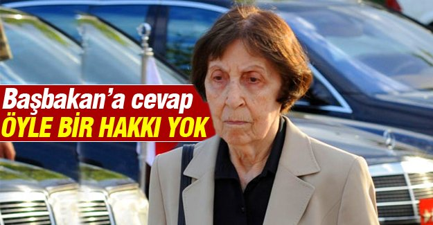 Rahşan Ecevit'ten Başbakan Davutoğlu'na cevap