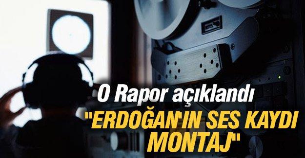 """Rapor açıklandı: """"Erdoğan'ın ses kaydı montaj"""""""