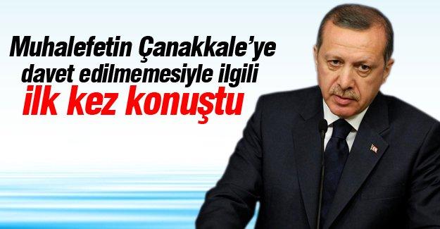 Recep Tayyip Erdoğan'dan Çanakkale açıklaması